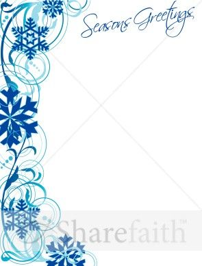 christmas borders for word | Snowflake Border and Seasons Greetings ...