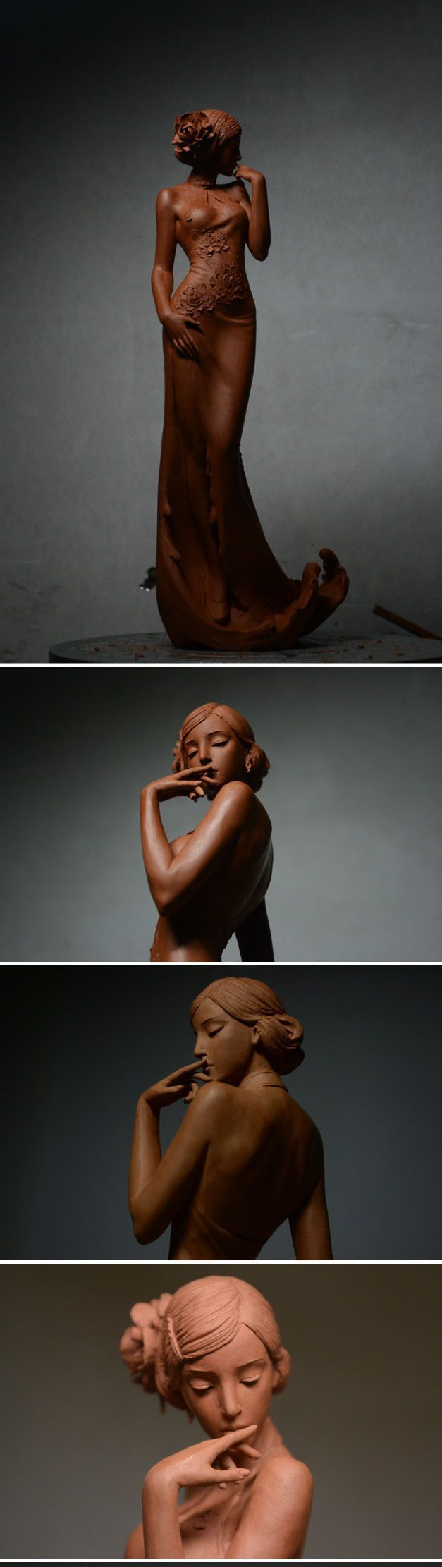Clay sculpture - unknown sculptor - beautiful