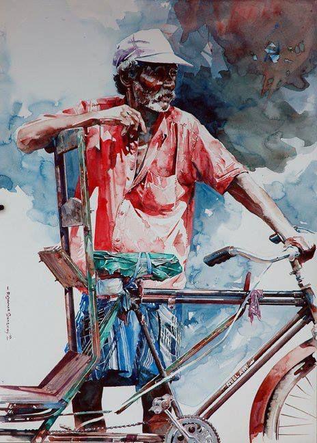 Watercolour Paintings By Rajkumar sthabathy on Behance