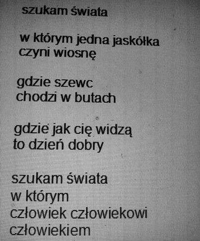 Jarosław Borszewicz 'Szukam świata' z tomu 'Zezowaty duet'