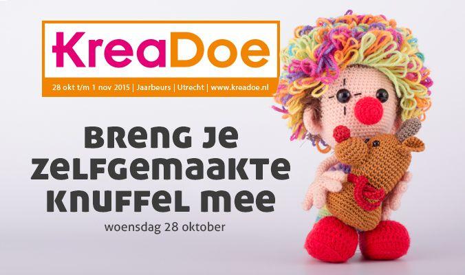 JAAA!! We gaan tijdens de openingvan KreaDoe (28 oktober)een groepsfoto maken met zoveel mogelijk zelfgemaakte knuffels!!Breng je zelfgemaakte knuffel mee op woensdag 28 oktober voor 10.00 uur b...