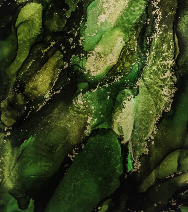 Emerald Isle - Alcohol Ink on Yupo Paper by Serena Webber www.serenawebber.com