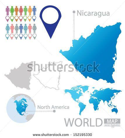Republic of Nicaragua. flag. North america. World