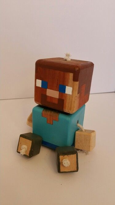 Steve - wood toy, natural wood, wood robot, DIY toy #woodtoy