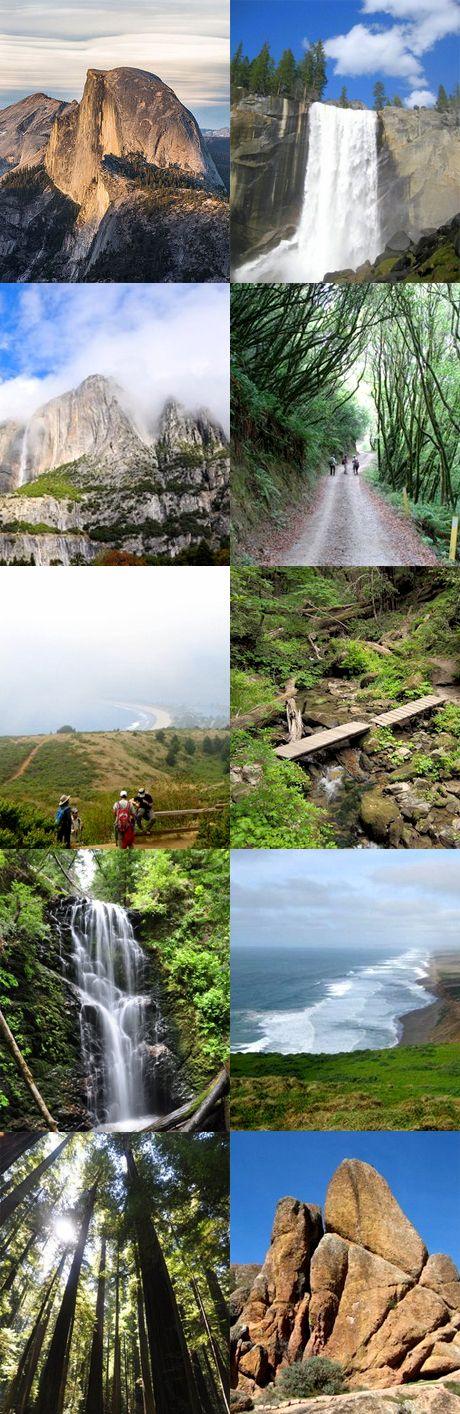 ☆ CALIFORNIA: Top 10 best hiking spots in California #Travel #California #WanderTours