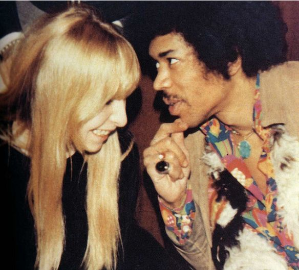 Jimi Hendrix and Mónica Dannemann