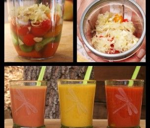 FARMHOUSE CULTURE KRAUT: Magical Mary 1 Carrot 1 Spear Celery 1 Handful Cherry Tomatoes 2-3 Inch Slice of Cucumber 1/3 C HL Kraut 2 T Olive Oil 1/2 t Salt 1/2 c H2O