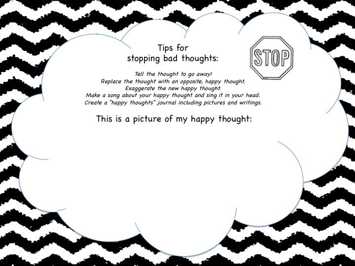 Counseling Sheets - Stop Bad Thoughts Worksheets ...