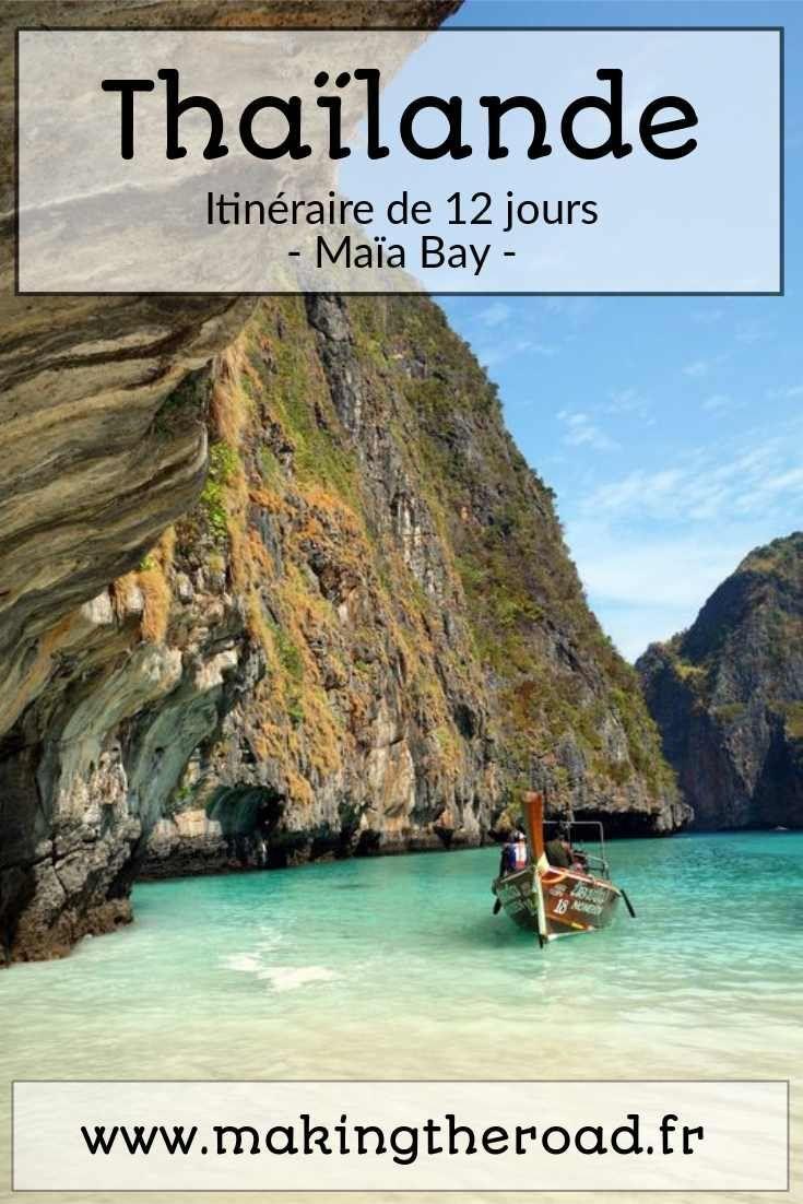 Maia Bay - Vacances en Thaïlande - Guide de voyage (2 semaines à 10 jours) - Conseils d'itinéraire, de plages, de beaux paysages, d'îles, circuit à petit budget au printemps en avril.
