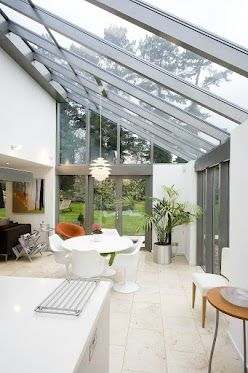 Find out more about Apropos' bespoke glass and aluminium structures in this months issue of Homebuilding and Renovating which features this industrialised lean-to conservatory by Apropos.