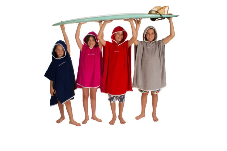 Colourful luxury hooded beach towels for kids and teens.  www.nauticalmile.com.au