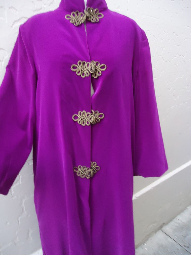 Fabulous purple/violet silk velvet coat. Size 12-14. $89 SOLD