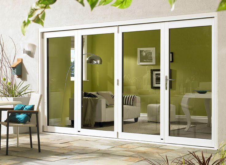 New wider glass Ultra 3.6M (12ft) White Aluminium Clad Oak Folding Doors » Vufold