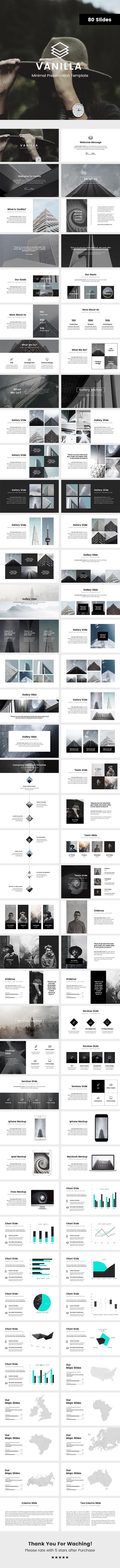 Vanilla Minimal Powerpoint Template - Business PowerPoint Templates