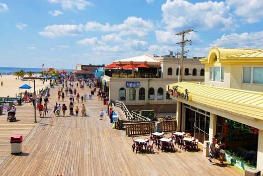 Jersey's Boardwalks - Point Pleasant Beach | Also referred to as Jenkinson's Boardwalk because of Jenkins Amusements including tons of rides, arcades, carnival food, restaurants, bars, fun houses, mini golf, and an aquarium. Anyone up for the Tilt-A-Whirl?