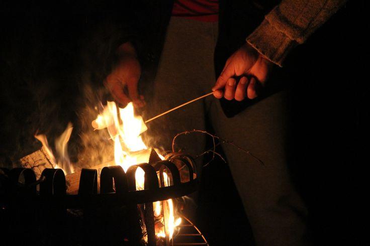 Fire basket and Marschmallows