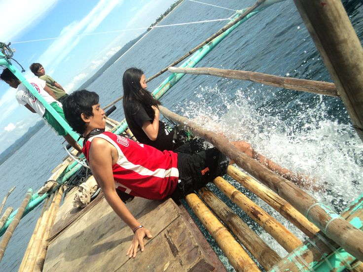 Playing with the Waves on our way to Higatangan island Leyte