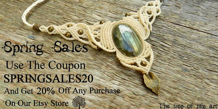 Hello people ♥ Spring is here!! Use The COUPON CODE: SPRINGSALES20 And Get 20% Off On Any Purchase On Our Etsy Store ✿ https://www.etsy.com/shop/TheTreeOfLifeArt