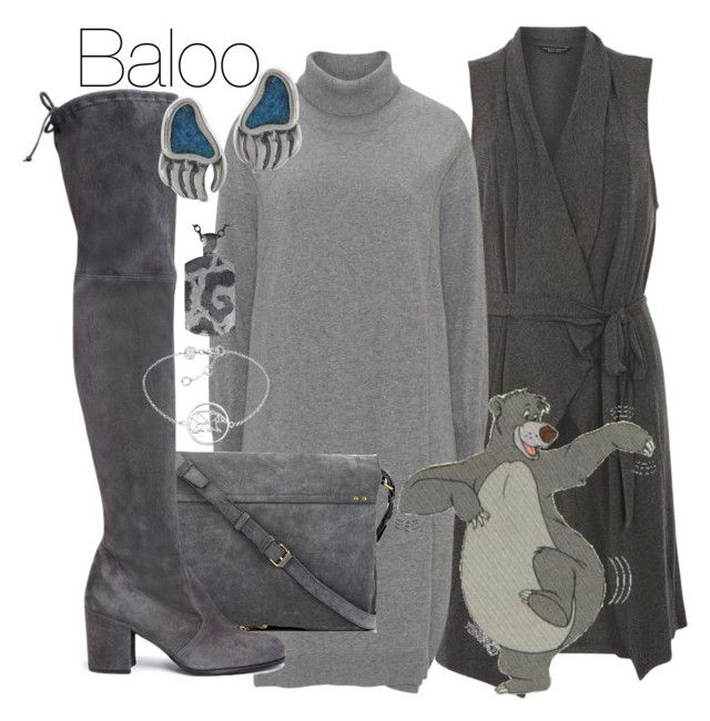 """""""Baloo"""" by shrimp492 ❤ liked on Polyvore featuring Dorothy Perkins, Jérôme Dreyfuss, Stuart Weitzman, Journee Collection, Alex Soldier, Daisy Jewellery, disney and disneybound"""