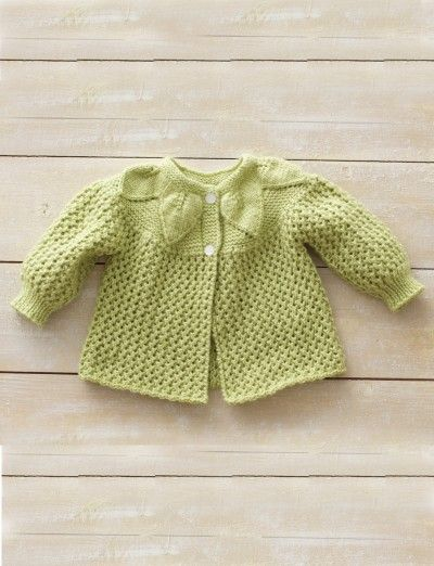 Leaf and Lace Set Yarnspirations Baby sweaters ...