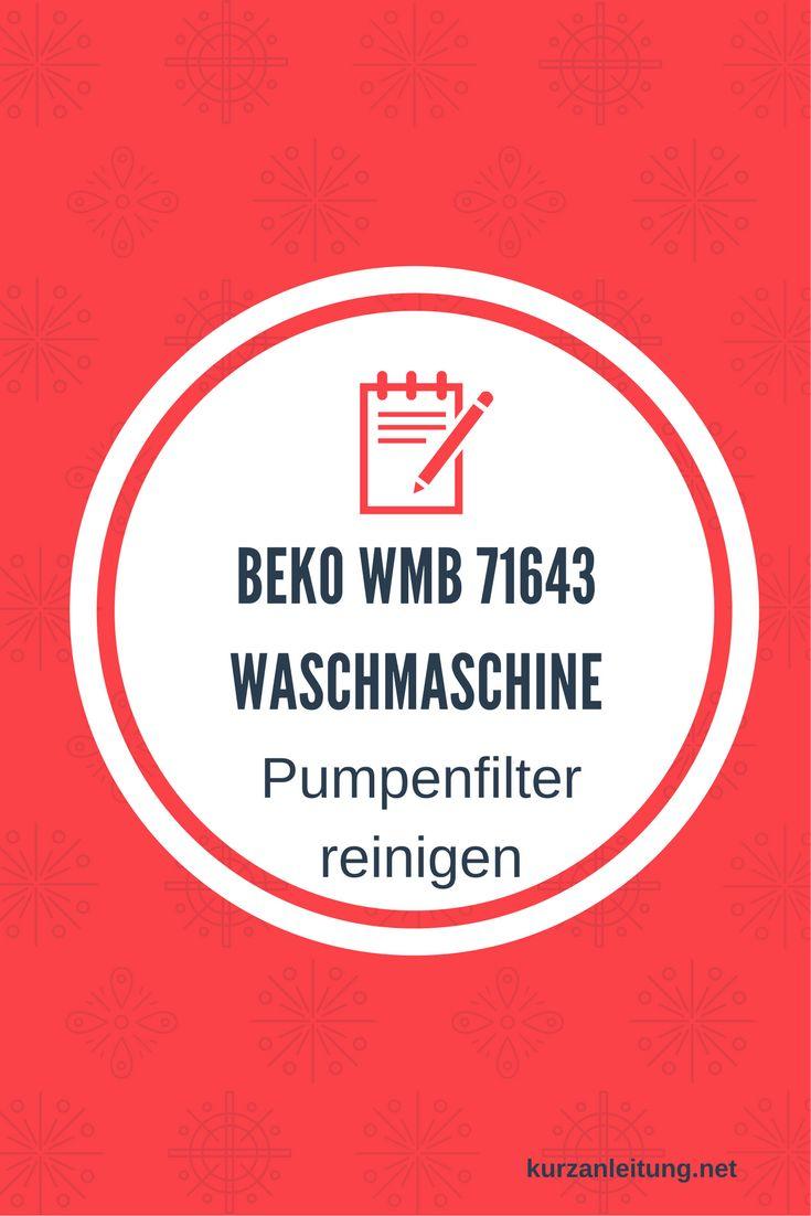 Wie wird das Flusensieb bzw. der Pumpenfilter der Beko Waschmaschine ausgebaut und gereinigt?  Marke: Beko Modell: WMB 71643 PTE Hilfsmittel: Flache Schüssel / Schale, Putzlappen  #Beko #Flusensieb #Pumpenfilter #Reinigung #Waschmaschine