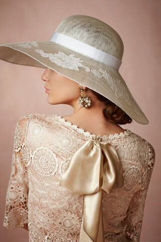 Midday Capeline. A touch of lace for a Derby day perhaps?