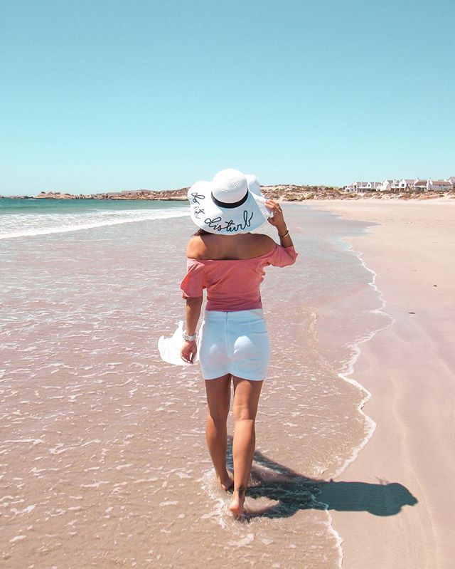 Blue skies, calm seas & a fabulous hat - these are a few of my favourite things 💕•••Read about our amazing weekend in Paternoster on my blog 🐳 Link in bio 💋