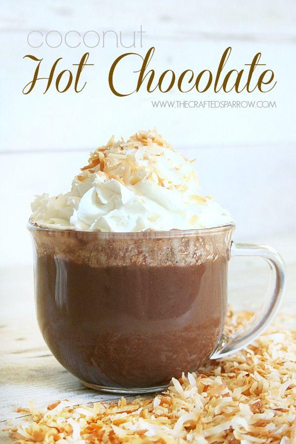 Coconut Hot Chocolate - thecraftedsparrow.com