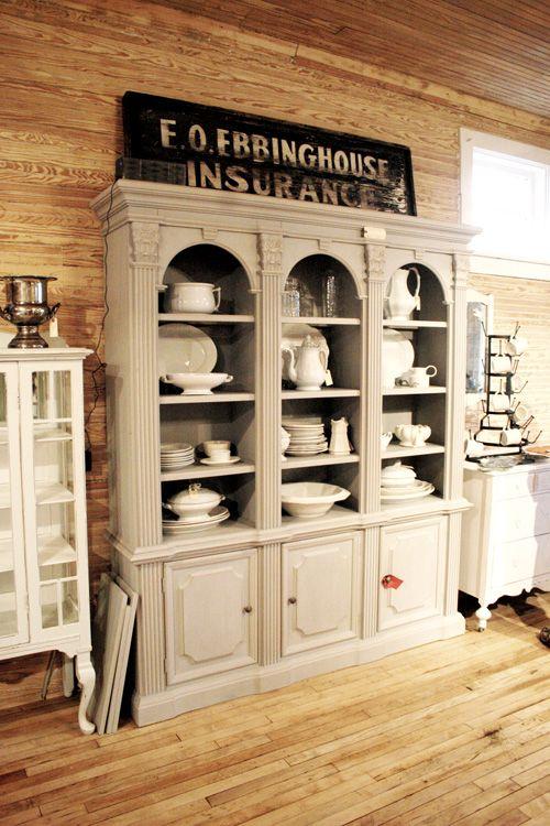 urban farmgirl - gray french cabinet
