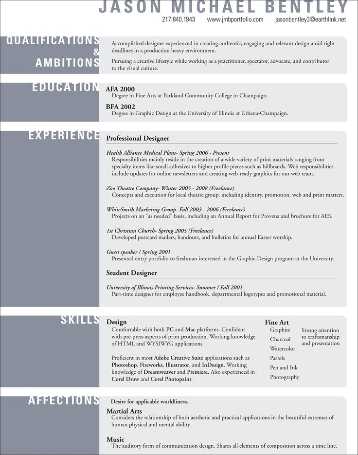 Best Design Resumes Images On   Graphic Designer