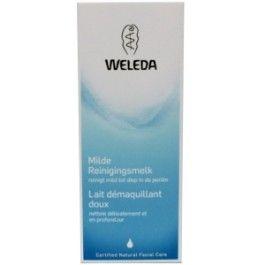 Milde reinigingsmelk  Weleda  Reinigt de gezichtshuid mild tot diep in de poriën en houdt daarbij de vochtbalans op peil. Natuurlijke etherische oliën uit citrusvruchten geven een aangenaam fris gevoel. Tevens geschikt voor het verwijderen van make-up.