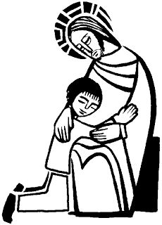 sacrament of reconciliation coloring page of jesus and childrenkids download religious photos and