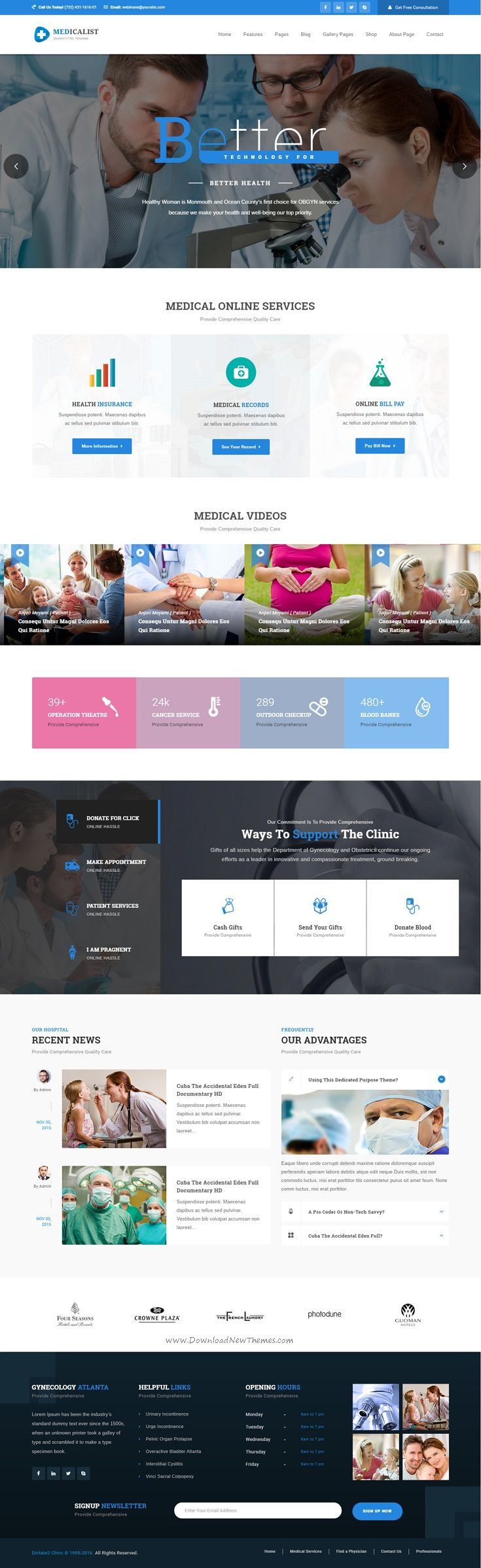 Medicalist - A Responsive HTML Bootstrap Template for Medical, #Doctors…