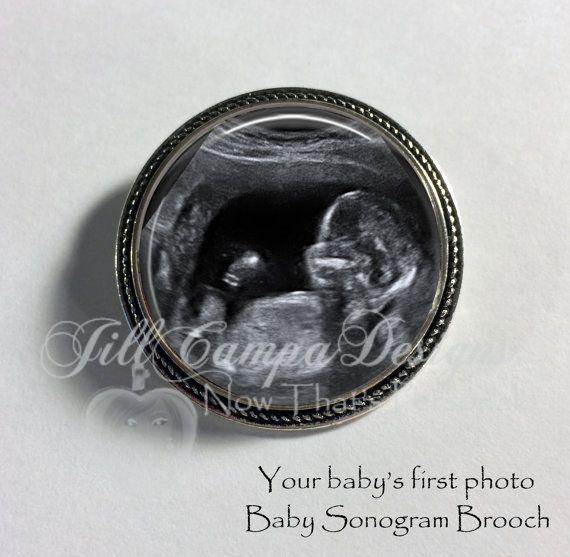 Brooch -  Baby sonogram - Custom baby ultrasound jewelry by NowThatsPersonal