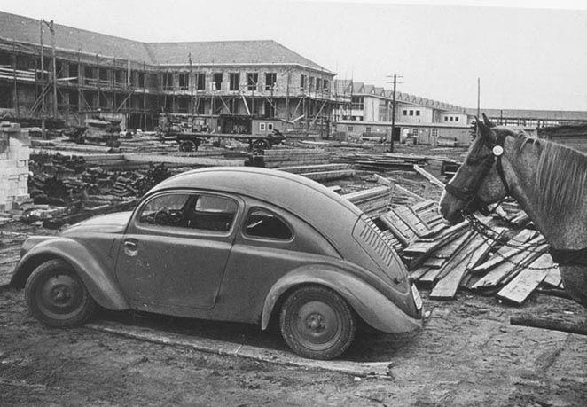OG   1937 Volkswagen / VW Beetle   KdF-Wagen Prototype W30 photographied in 1945