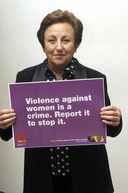 Shirin Ebadi. Avvocato. Fondatrice del Defenders of Human Rights Center, è la prima cittadina iraniana a ricevere il Premio Nobel per la pace nel 2003, grazie ai suoi sforzi in difesa dei diritti dei rifugiati, delle donne e dei bambini.