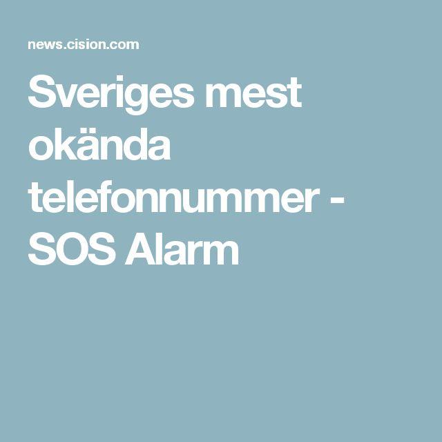 Sveriges mest okända telefonnummer - SOS Alarm
