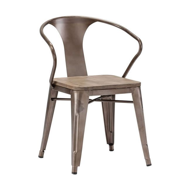 Bistro Arm Chair + Rustic Wood