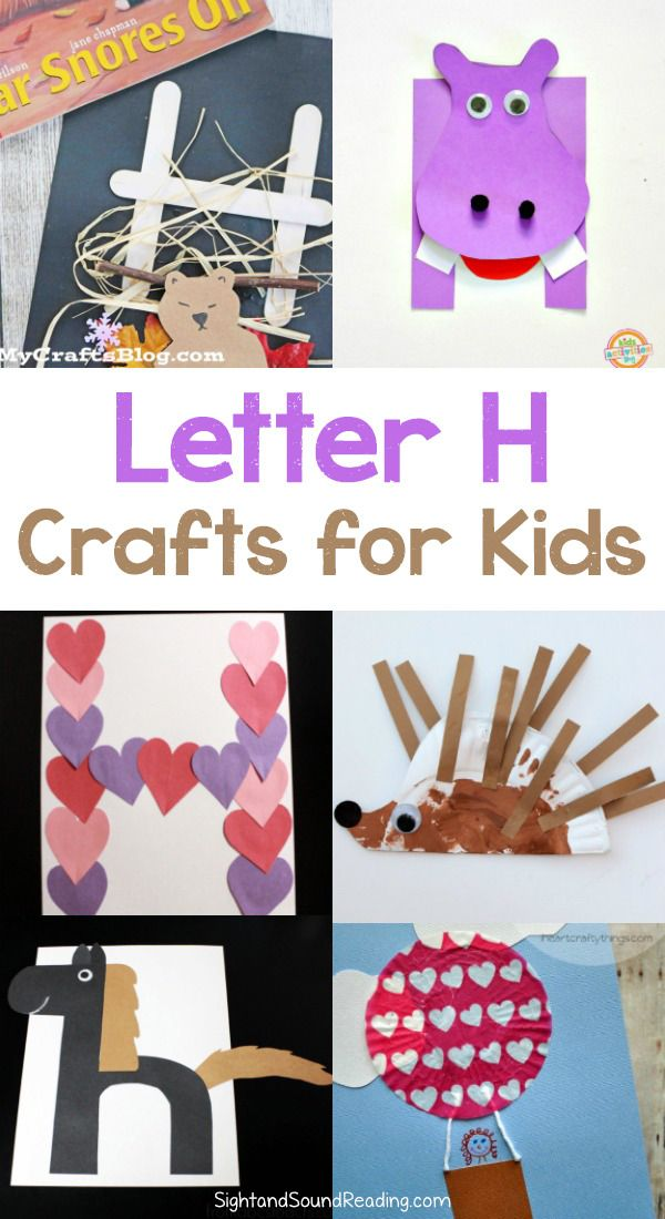 Letter H Crafts Letter H Crafts for preschool or kindergarten - Fun, easy and educational! Students will have fun learning and making these fun crafts!