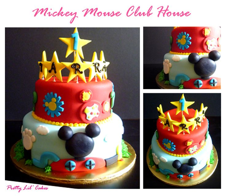 Mickey Mouse Clubhouse Fondant Cake