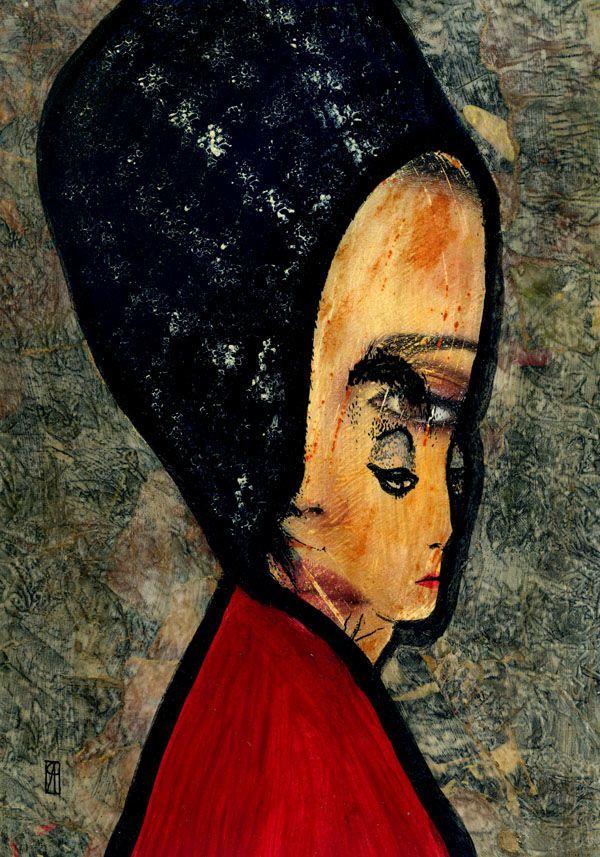27-KARMA . Moralista. (Pintura),  30x21 cm por Cris ACQUA Pintura mixta