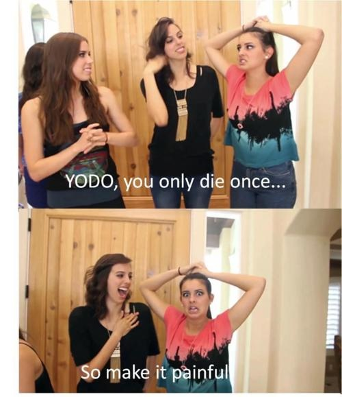 #YODO! @Lauren Davison Davison Davison Cimorelli I remember this from the Payphone cover extras.  haha