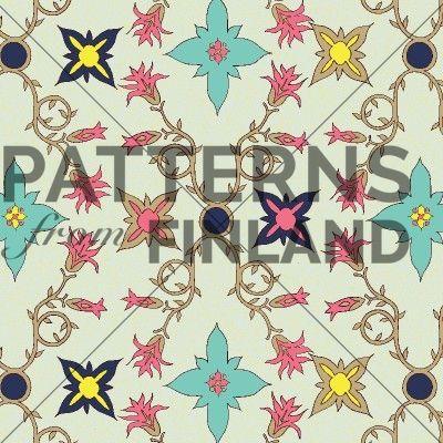 Hibiskus by Kahandi Design   #patternsfromfinland #kahandidesign #pattern #surfacedesign #finnishdesign