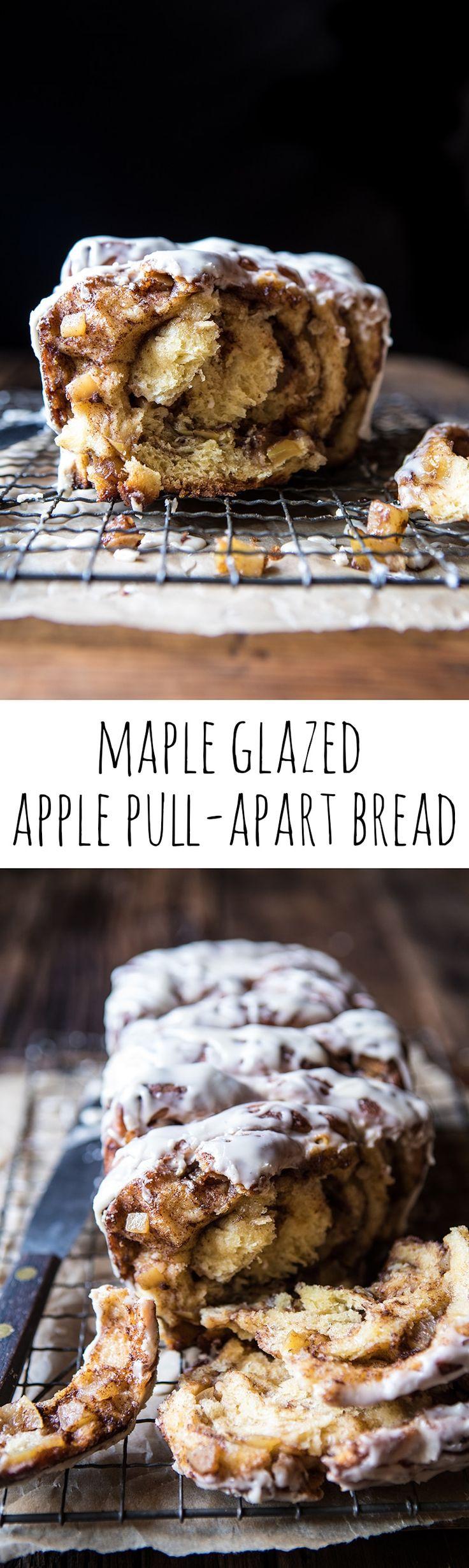 Maple Glazed Apple Pull-Apart Bread | halfbakedharvest.com @hbharvest