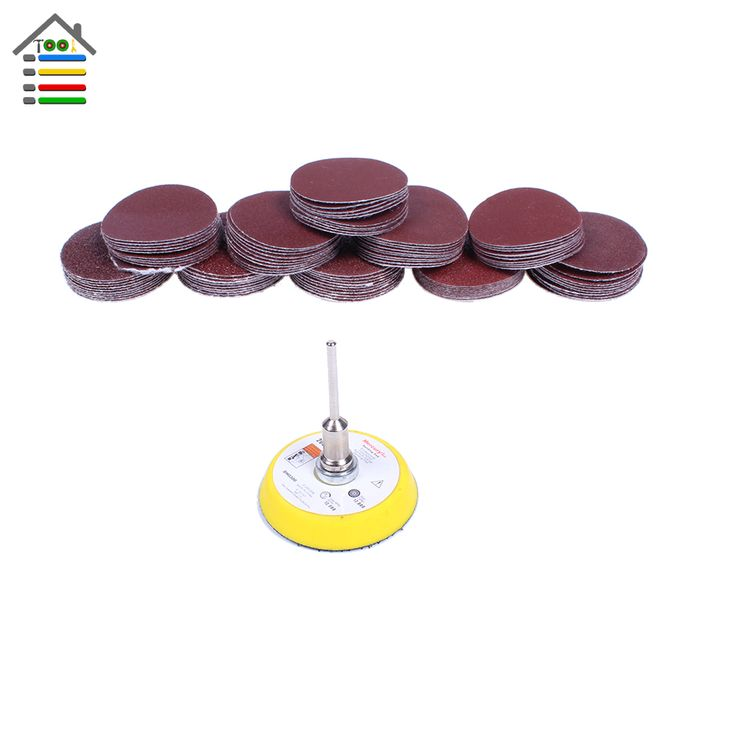100x Sander Disc 2 inch 50mm 40-400 Grit Paper + 1pc Polish Pad Plate fit Dremel 4000 Electric Grinder Abrasive Rotary Tools