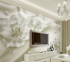 Home Decoration classic wallpaper for walls European style silk flowers photo wall murals wallpaper