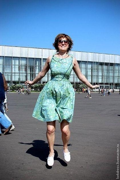 """Платья ручной работы. Ярмарка Мастеров - ручная работа Платье """"Mint"""" из хлопка. Handmade."""