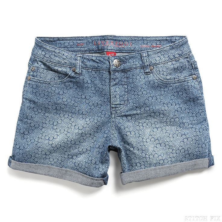 Stitch Fix Style | This Just In: Paley Lace Printed Denim Short