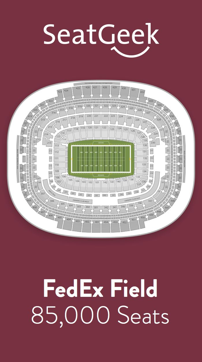 Find the best deals on Washington Redskins tickets and know exactly where you'll sit with SeatGeek.