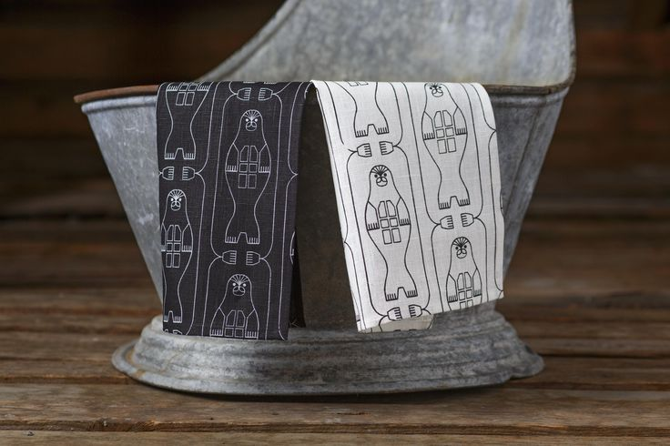 Norppa (Ringed Seal) tea towels. Design by Riikka Kaartilanmäki 2016.